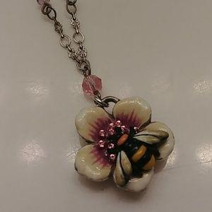 Brighton Enamel Bee Necklace.